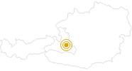 Wanderung Salzburger Almenweg Etappe 20 (Kogelalm – Flachau) in der Salzburger Sportwelt: Position auf der Karte
