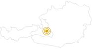 Wanderung Flachau - Grießenkareck - Frauenalm - Flachauwinkl in der Salzburger Sportwelt: Position auf der Karte