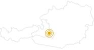 Wanderung Obertauern - Felseralm - Hirschwandsteig - Südwienerhütte - Flachauwinkl in Obertauern: Position auf der Karte
