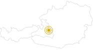 Wanderung Filzmoos - Moosalm - Roßbrand - Neuberg in der Salzburger Sportwelt: Position auf der Karte