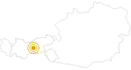 Wanderung Zirbenweg von Igls nach Tulfes in der Region Hall - Wattens: Position auf der Karte