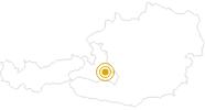 Wanderung Steinfeldspitze-Tour bei Zauchensee in der Salzburger Sportwelt: Position auf der Karte