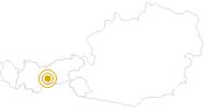 Wanderung Genussrouten Stubaital - Wanderparadies Elfer in Stubai: Position auf der Karte