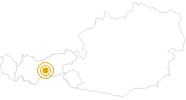 Wanderung Genussrouten Stubaital – Stubaier Jungrind in Stubai: Position auf der Karte