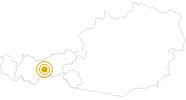 Wanderung Genussrouten Stubaital – Stubaier Forelle in Stubai: Position auf der Karte