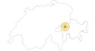 Wanderung Rheinschlucht: Ilanz - Staderas in Surselva: Position auf der Karte