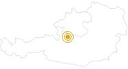 Wanderung Goiserer Hütte nach gosau hintertal im Dachstein Salzkammergut: Position auf der Karte
