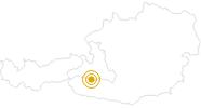 Wanderung Tauerngold-Rundwanderweg und Gletscherschaupfad Nr. 32 in Zell am See - Kaprun: Position auf der Karte