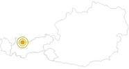 Wanderung Moosle's Forscherpfad in der Tiroler Zugspitz Arena: Position auf der Karte