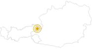 Wanderung Biathlon-WM-Pfad in Hochfilzen im Pillerseetal: Position auf der Karte