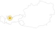 Wanderung Montanwanderweg Biberwier in der Tiroler Zugspitz Arena: Position auf der Karte