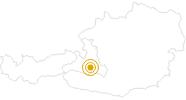Wanderung Bichlalm im Grossarltal: Position auf der Karte