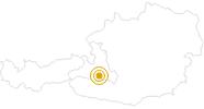 Wanderung Hühnerkaralm im Grossarltal: Position auf der Karte