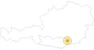 Hike Crystal Trail – Leg 4: Weinebene – Großer Speikkogel – Brandl in the Lavanttal: Position on map