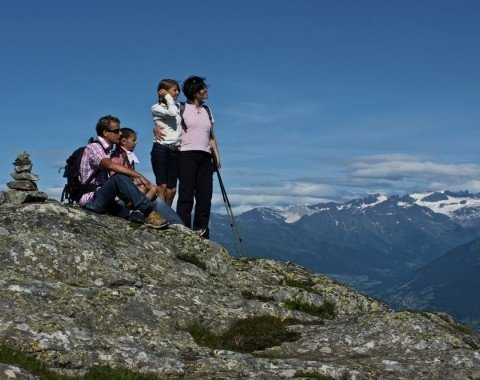 Hiking on top of the Gitschberg