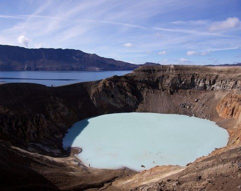Volcanic crater Víti