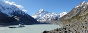 View to Mt Cook from Hooker Lake