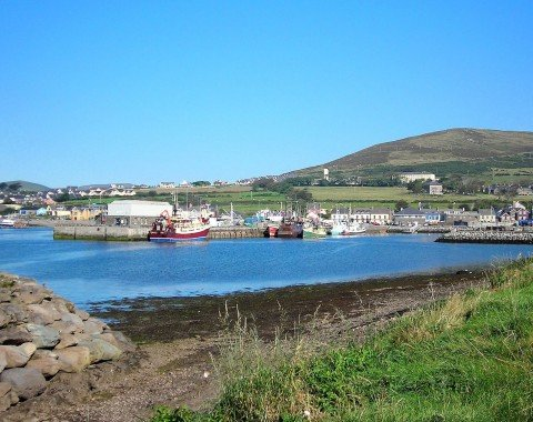 View over the beautiful port of Dingle.
