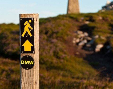 Just follow the signs with the little yellow hiker.