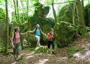 Hiking on Erzweg trail