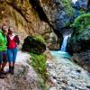 Hiking through Almbach gorge