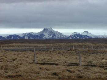 View of glacier Langsjökull.