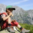 Resting on Alpenrosenweg