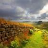 Hadrian's Wall Path leads straight across the island.
