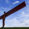 The impressive steel statue 'Angel of the North'