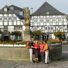The hike starts at the historic town square of Brilon.
