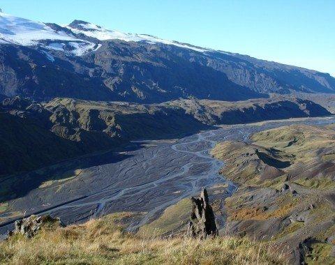 Eyjafjallajökull and Krossá River