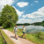 Once you reach Heisterberger Weiher, you are not far from Fuchskaute, where you started.