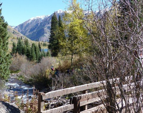 The small bridge over West Maroon Creek