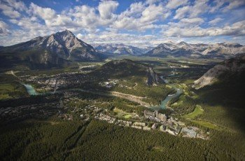The area around Banff is well-known for its hiking tours