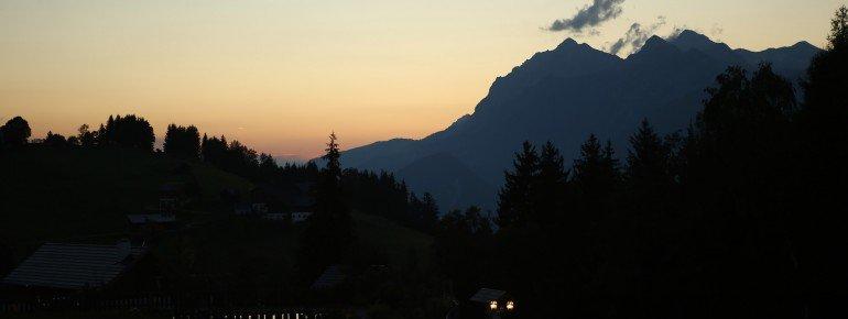 View to Dachstein mountain (2995m - the highest mountain of Styria)