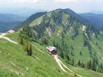 View from Hochgrat onto Staufner Haus