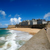 Picturesque coast-city Saint-Malo on the Sentir des Douaniers