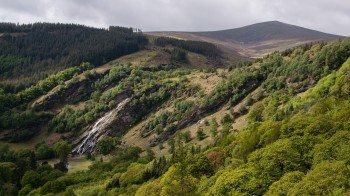 The impressive Powerscourt Waterfall in Deerpark