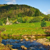 The idyllic Glendalough Valley with its historic monastic sites