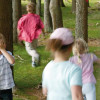 The hike is particularly fun for children.