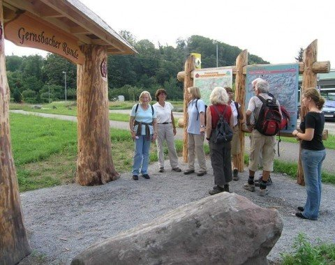 Start the tour at the hiking portal.