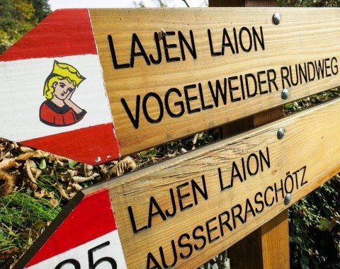 Sign of the Vogelweide theme path