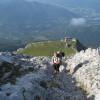 Ascent from Watzmannhaus to Hocheck.