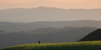 View over Kaiserstuhl all the way to the Vosges mountains.
