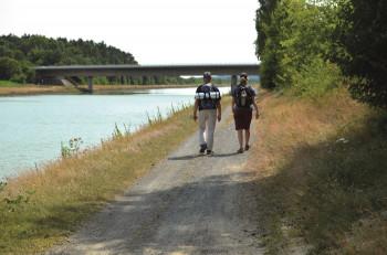Wanderer am Elbe-Seitenkanal