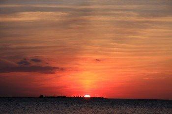 Sonnenuntergang in Fynshav