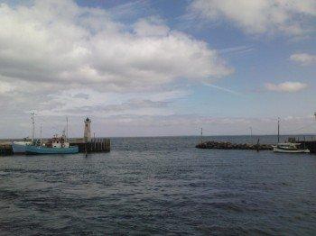 Die Hafeneinfahrt von Mommark
