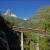 Mit der Gornergratbahn über die Findelbach Brücke