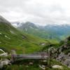 Blick von der Alpe Monzabon auf die Gipfel der Umgebung.