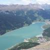 Blick vom Endkopf auf den Reschensee